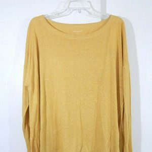 NEW $168 gold EILEEN FISHER shirt top blouse L
